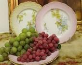 Vintage 40s floral dessert porcelain plates set 4