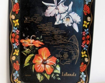 Vintage Tin Tray from the Hawaiian Islands