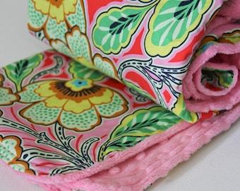 Amy Butler Love Minky Baby Blanket