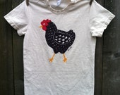 Dotty Chicken Organic Child Short Sleeve Tee 2, 4, 6, 8, 10, 12