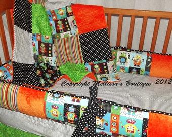 Custom Robot Bright Fun Designer Baby Nursery Crib Bedding Set CHOOSE & CUSTOMIZE