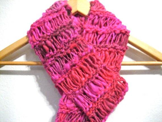 Knit Drop Stitch Scarf Pattern : Items similar to Hand Knit Drop Stitch Scarf on Etsy