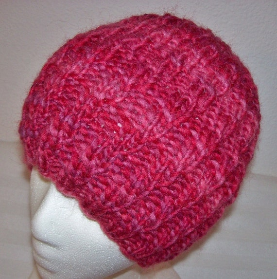 Items similar to HANDSPUN Wool Beanie -