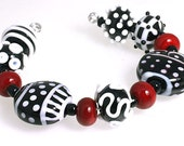 LeahBeads-Lady Luck-Abstract Lampwork Beads