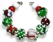 LeahBeads-Laughing All The Way-Holiday Lampwork Beads