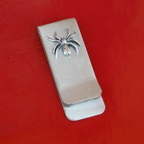 Money / Card Clip - Spider, Small LAST ONE