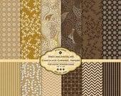 Caramel Chocolate Digital Scrapbook Papers