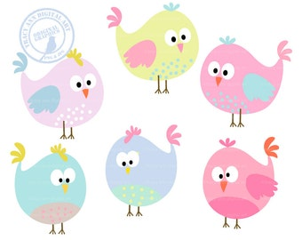 Easter Spring Pastel Party Birds Chicks