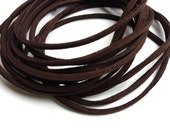 Micro Fiber Suede - Leather Alternative - 2mm - Dark Brown Color - 5 Yards