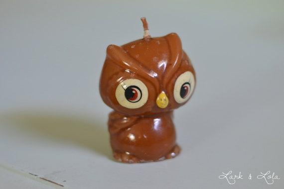 Woodland Owl Birthday Candle