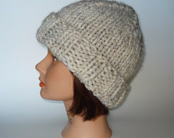 Warm Knit Watchcap Hat for Men, Women, Teens...Rollup Brim
