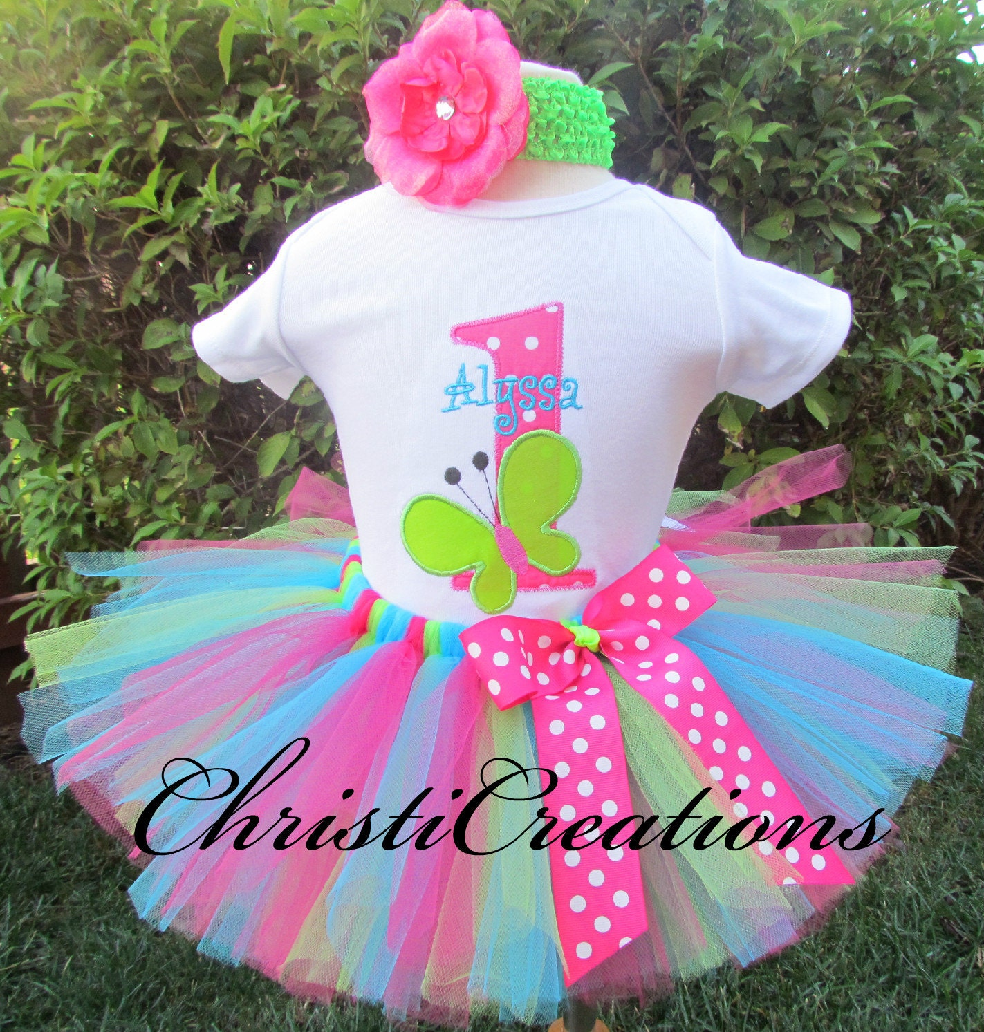 Birthday Party Outfit: Baby Girl First Birthday Outfit Butterfly Party Includes