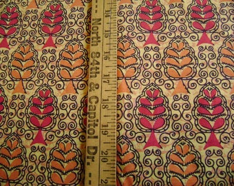 Orange And Yellows Printed Fabric