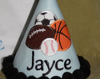 TLB Boy or Girl All Star Sports Personalized Birthday Boutique hat  Number Letter