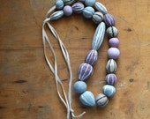 Buoy Necklace in Plum and Pink