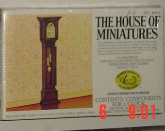 house of miniatures william and mary clock kit