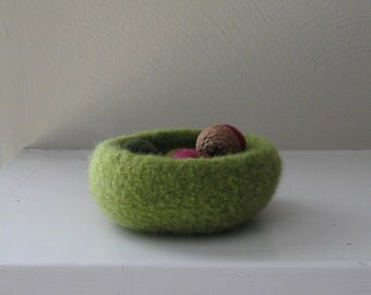 Granny Smith Green Mini Bowl - In Stock - Ready to Ship - Acorns not Included