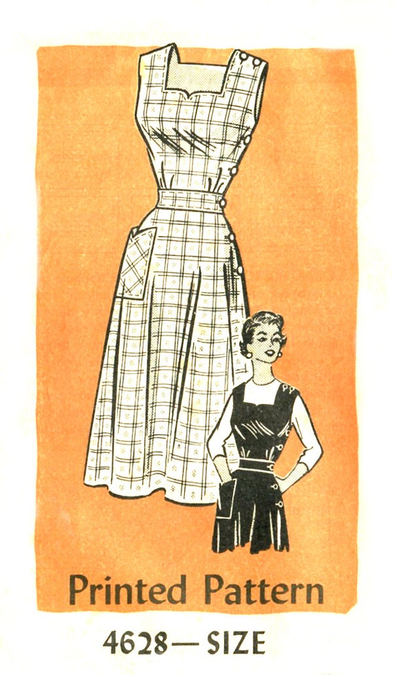 50s Sundress or Jumper Pattern - Mail Order 4628 - Hoard's Dairyman - Size 18.5 / Bust 39