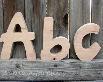 unfinished wood letters casual rounded monograms and words home decor