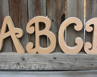 paintable wood letters