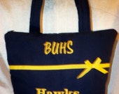 Great to celebrate High School Sports tote pick your colors Football Soccer Basketball Baseball