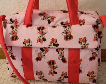 Minnie Mouse  Diaper Bag with changing pad by EMIJANE