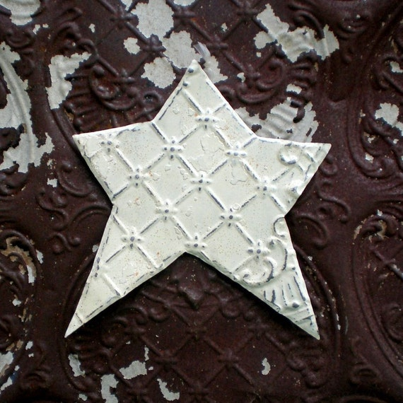 Metal Christmas Star Vintage Ceiling Tin Farmhouse Decor Americana