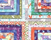 Modern Patchwork Baby Blanket /Infant Blanket made with Good Fortune Collection from Moda Fabrics