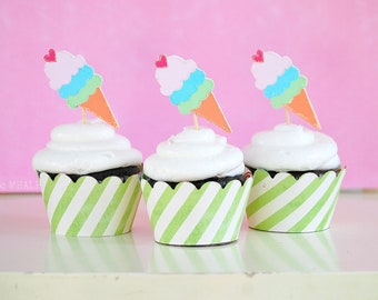 The ICE CREAM Collection - Custom Cupcake Toppers from Mary Had a Little Party
