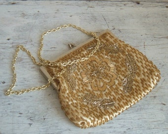 vintage hand beaded evening bag