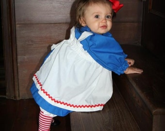 Baby Raggedy Ann  Costume  without wig doll not included