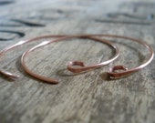 2 Pairs of my Shoals Copper Earwires - Handmade. Handforged