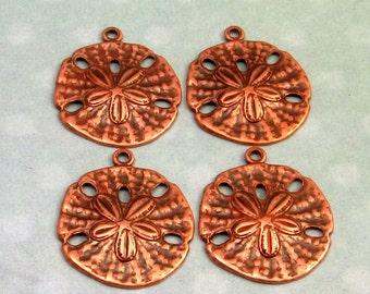 Sand Dollar Charm, Antique Copper 4 Pc. AC137