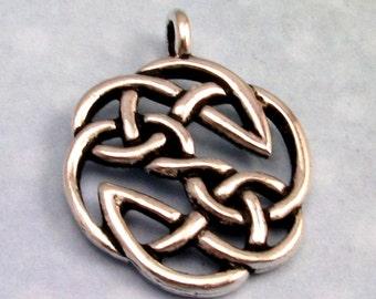 TierraCast Celtic Knot Pendant, Antique Silver TS54