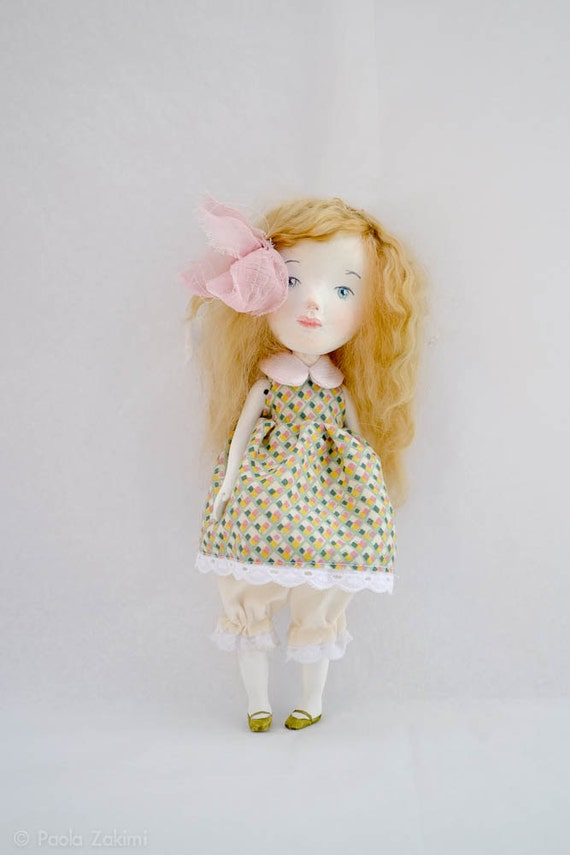 RESERVED FOR MASAMI-Mabel, Original girl art doll by Paola Zakimi