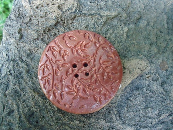 Large Stoneware Button
