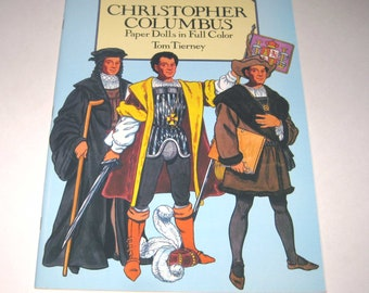 Christopher Columbus Paper Dolls Vintage Uncut Paper Doll Book by Tom Tierney