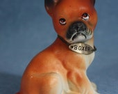 "Boxer Vintage Figurine 4"" Ceramic Dog Collectible"