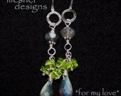 FOR MY LOVE, Luscious Labradorite and Peridot Dangles, Sweet and Simple Yet Sublime