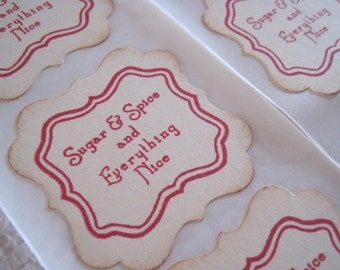Handmade Sticker Seals -  Envelope Seals - Christmas Baked Goods - Cookies