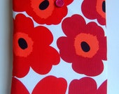 Ipad cover cozy sleeve padded made with marimekko style fabric fits all ipad 1 2 3 4