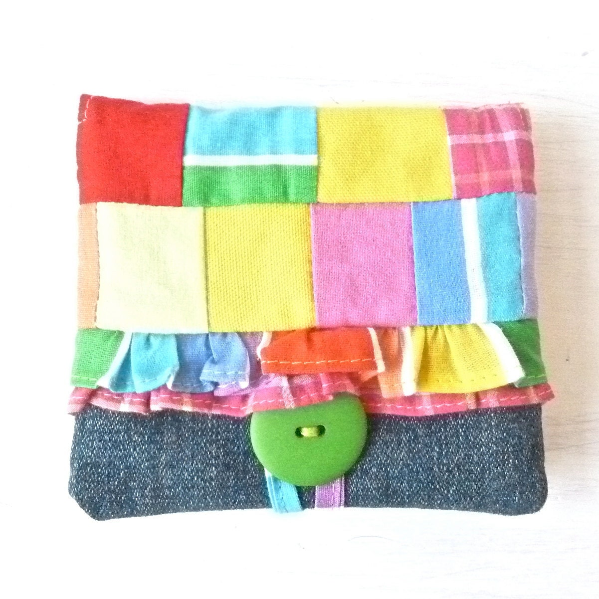 Teen Girl Rainbow Ruffle Fabric Wallet by MegExpressions ...