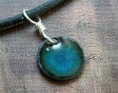 The Prairie...Water Blue...Copper Enamel necklace