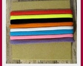 Kid's Size Nylon Stretch Chokers-Set of 50- Use as a  headband, with a washer for snap caps, double it up for a bracelet, etc