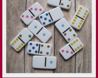 Mini Dominoes- Set of 25- High quality- Great for making into pendants or decorative magnets