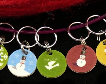 STITCHMARKERS for KNITTERS or CROCHETERS, Have a Peaceful Holiday