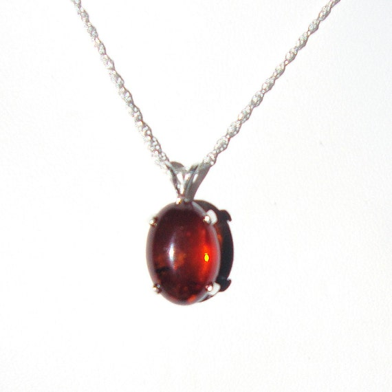 Baltic Amber sterling silver pendant with chain