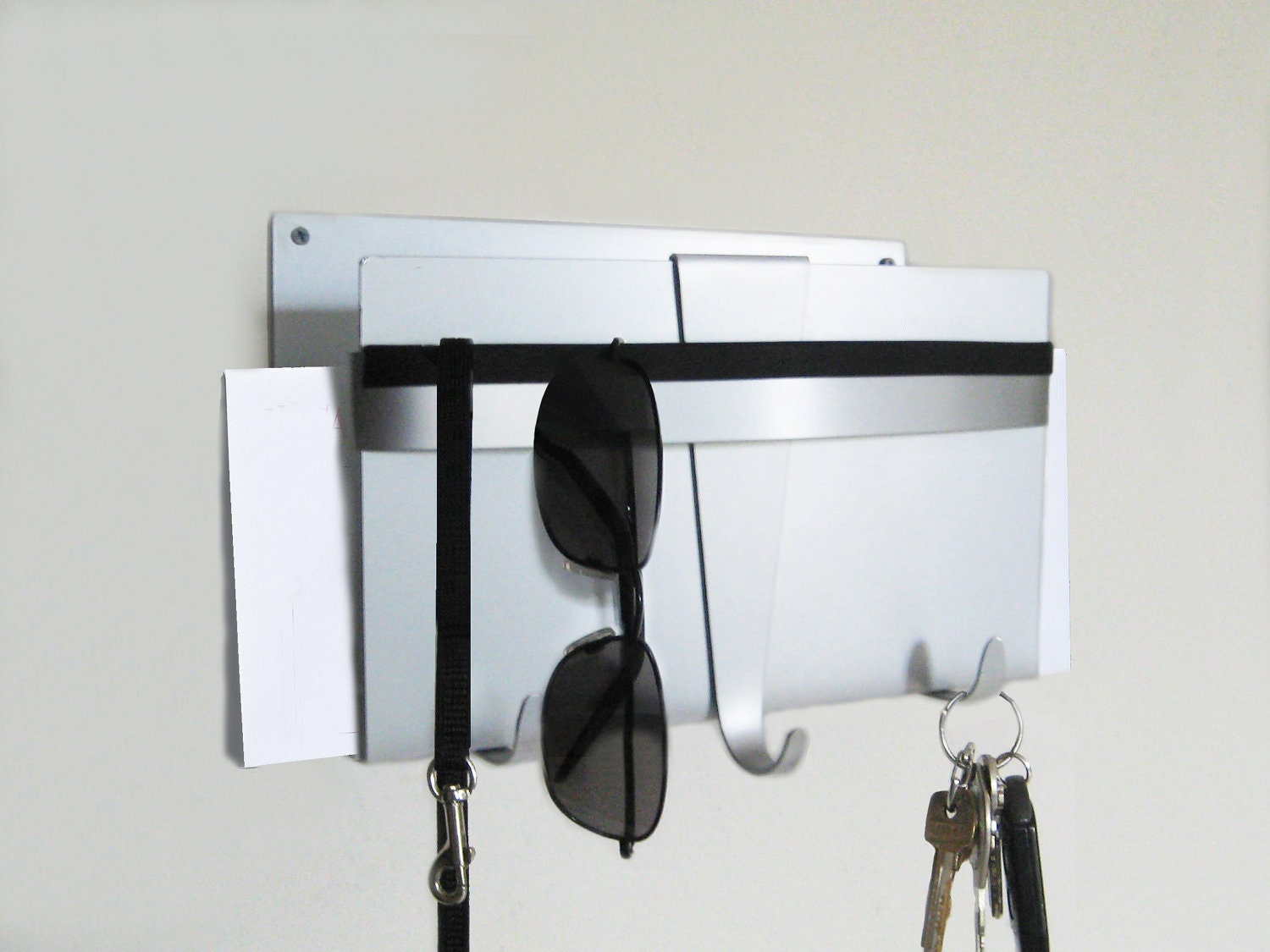 Modern Wall Key Holder And Mail Organizer