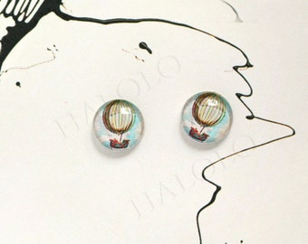 Sale - 10pcs handmade balloon round clear glass dome cabochons 12mm (12--0616)