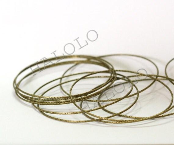 10 pcs antique brass finish bangles close circle 68mm (D380)
